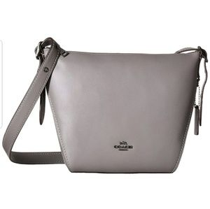 Coach leather Dufflette Heather Grey NEW